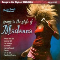 Madonna Songs in the Style of... Karaoke CD